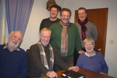 (v.l. Axel Dierker, Michael Thiele, Christian Tramnitz, Hansjörg Scheidler, Stephan von Hammel, Elisabeth Dierker, Foto: Andreas Romahn)